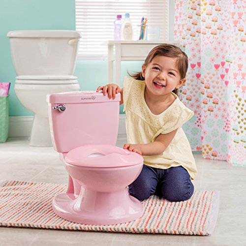 Summer Infant My Size Potty (Pink) – Training Toilet for Toddler Girls – with Flushing Sounds and Wipe Dispenser