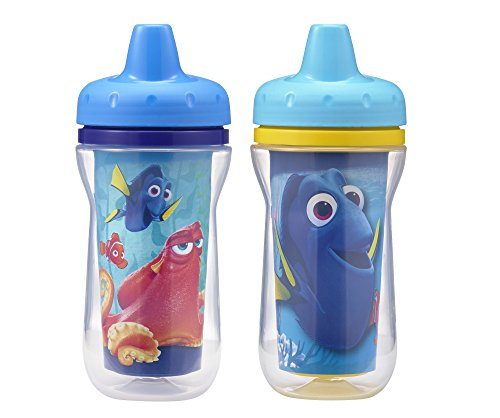 The First Years Insulated Sippy Cups, Finding Dory, 9 Ounce (Pack of 2)
