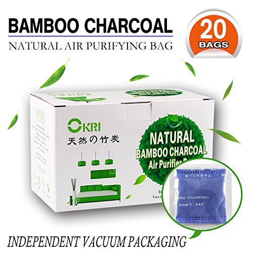 100% Sealed All-Natural Air Purifier and Diaper Pail Deodorizer – for Diaper Genie, Ubbi & Other Pails Shoe Closets, Cars,Refrigerators & with Pets, Set of 20 Bamboo Carbon Filters