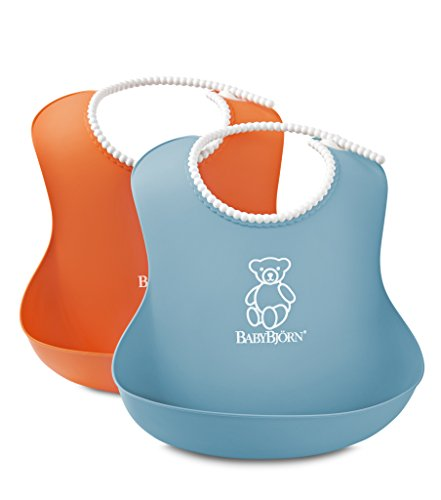 BABYBJORN Soft Bib – Orange/Turquoise (2 Pack)
