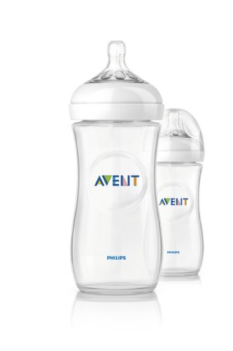Philips Avent Natural Baby Bottles, 11 Ounce, (2 Pack)