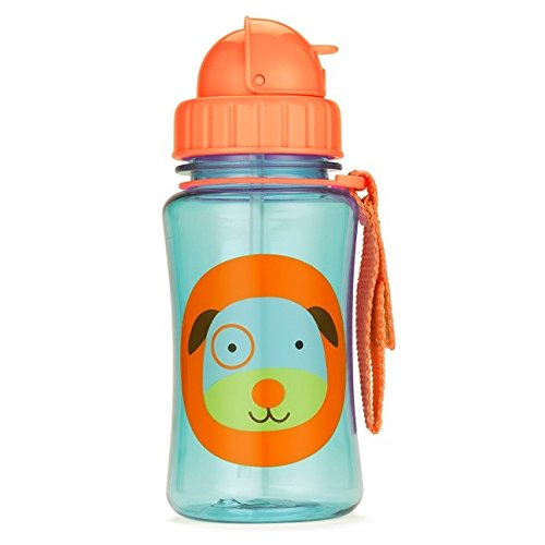 Skip Hop Straw Cup, Toddler Transition Sippy Cup, Dog