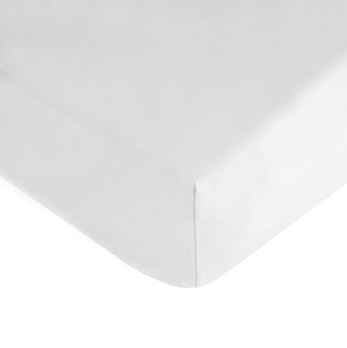 American Baby Company 100% Cotton Jersey Knit Fitted Crib Sheet for Standard Crib and Toddler Mattresses, White, for Boys and Girls