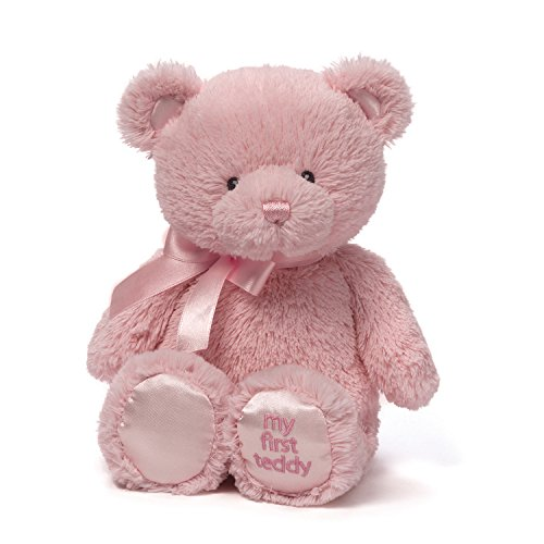 Baby GUND My First Teddy Bear Stuffed Animal Plush, Pink, 15″
