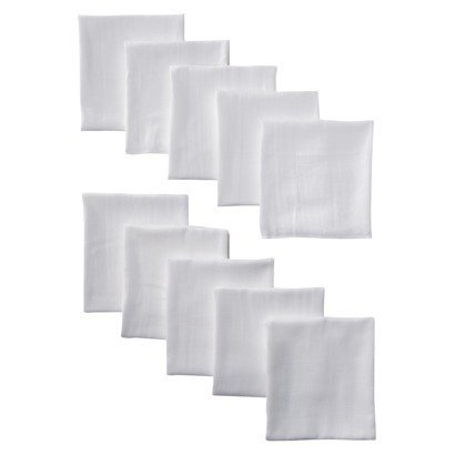 Gerber 10-Pack Cloth Diaper Prefold Premium 6-ply with Absorbent Padding