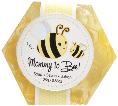 Kate Aspen Sweet Honey & Fresh Flower Scented Honeycomb Soap Baby Shower Favor, Mommy to Bee, 1 Count