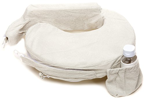 My Brest Friend Deluxe Nursing Pillow for Comfortable Posture, Light Grey Heather