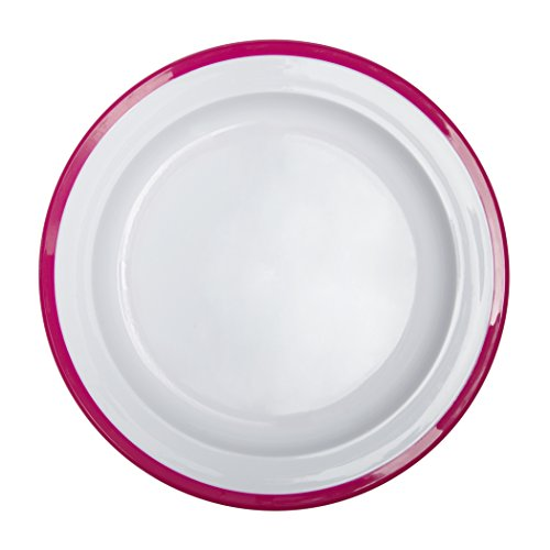 OXO Tot Big Kids Plate with Non-Slip Base- Pink